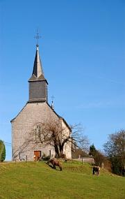 Village church in Belgian countryside, Luc Viatour
